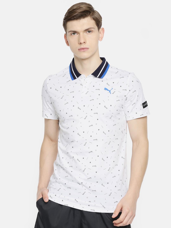 Printed VK AOP Polo Collar T Shirt