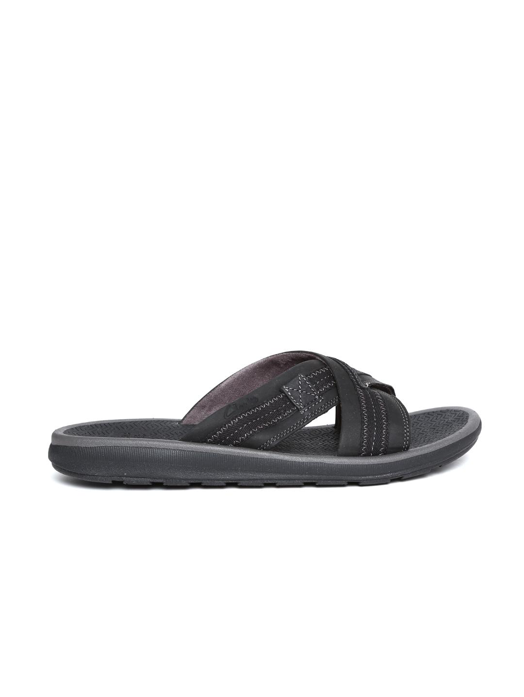6f344421e75170 Buy Clarks Men Black Nubuck Leather Sandals - Sandals for Men ...