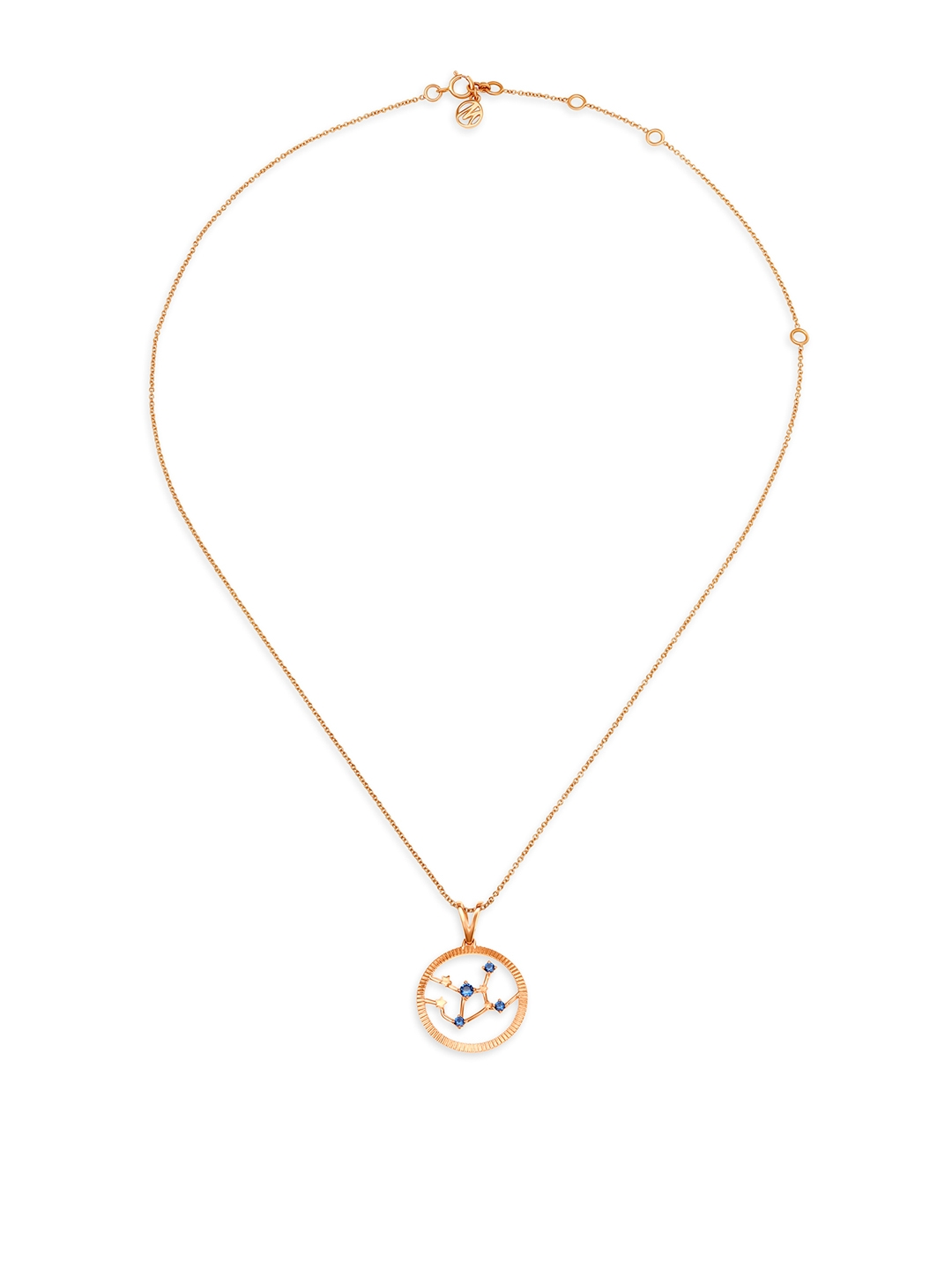Mia by Tanishq Virgo 14KT Rose Gold Pendant and Chain