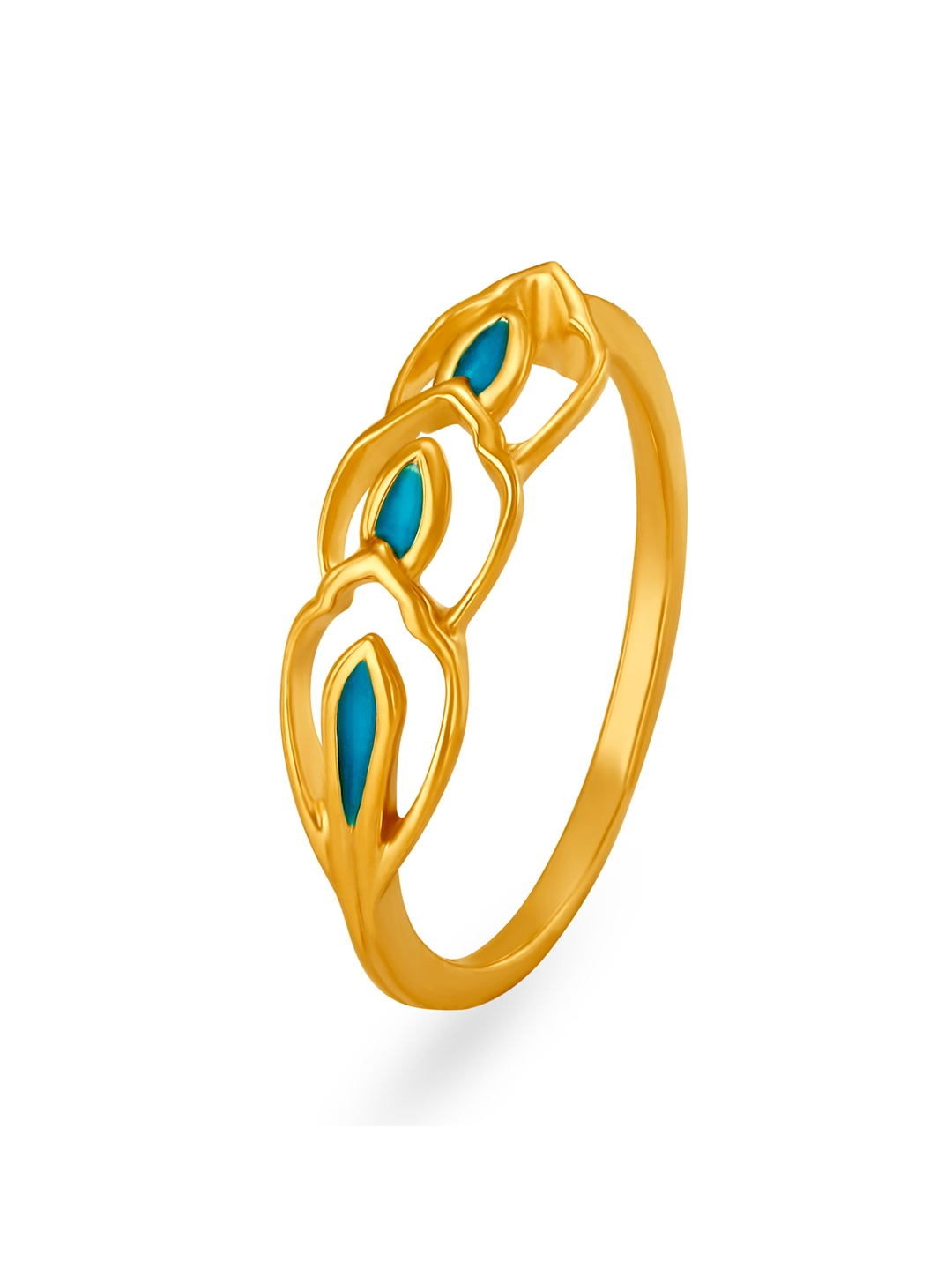 Mia by Tanishq 14KT Yellow Gold Finger Ring
