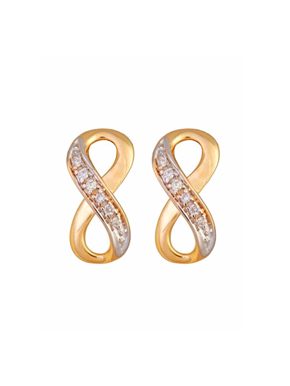 Mia by Tanishq 14KT Yellow Gold Diamond Stud Earrings