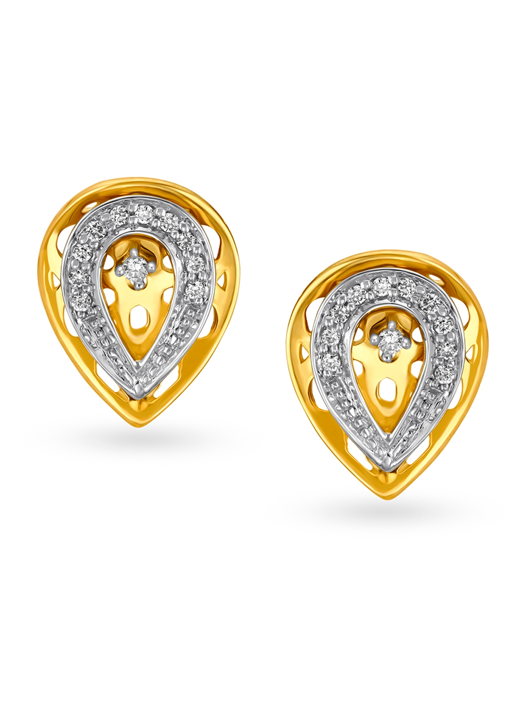 Mia by Tanishq 14KT Yellow Gold Diamond Stud Earrings