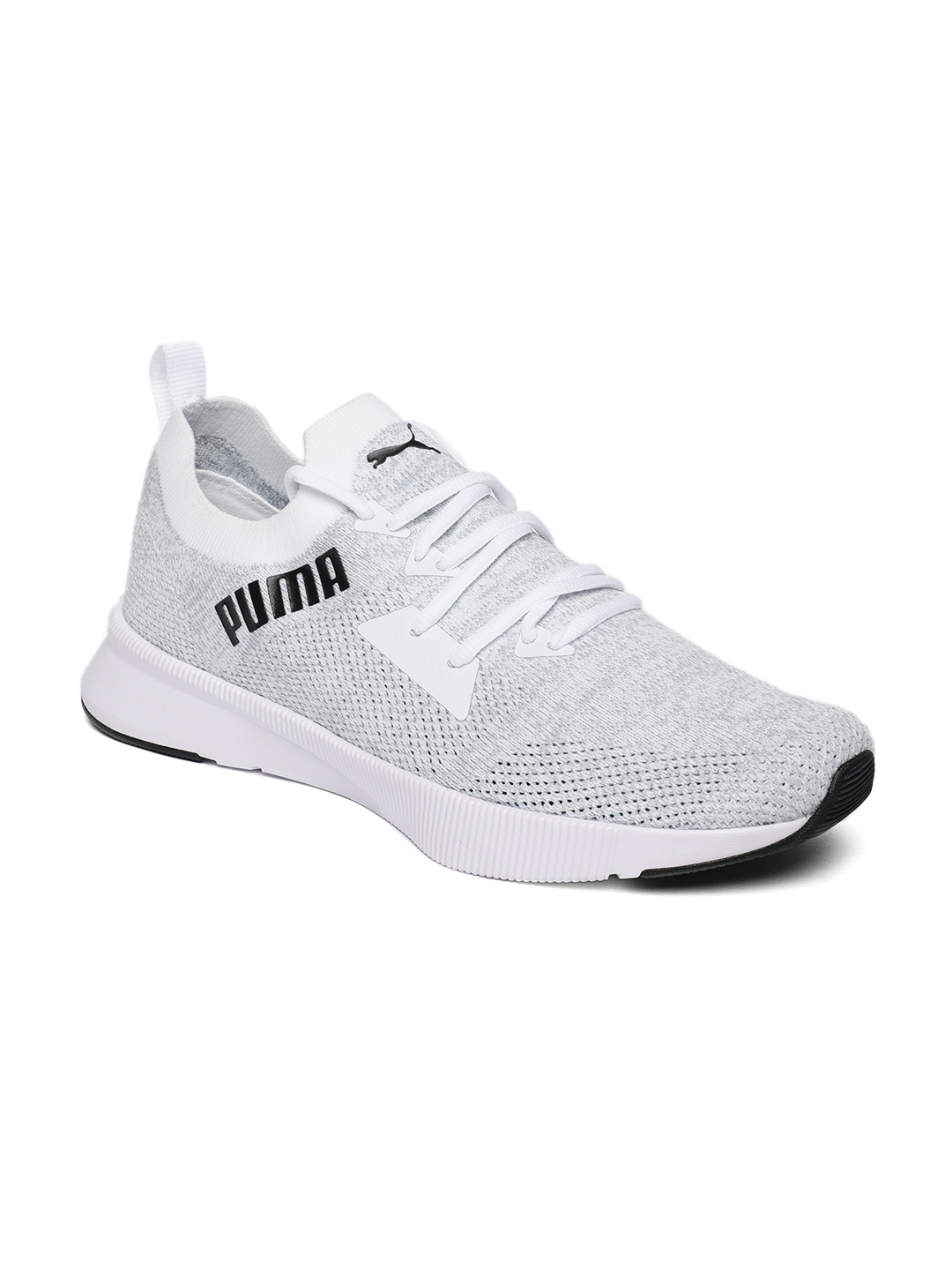 Puma Flyer Runner Mens Neutral Running Trainer Shoe Grey//White