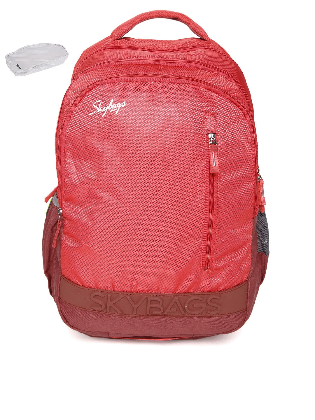 Skybags Unisex Red Textured Backpack