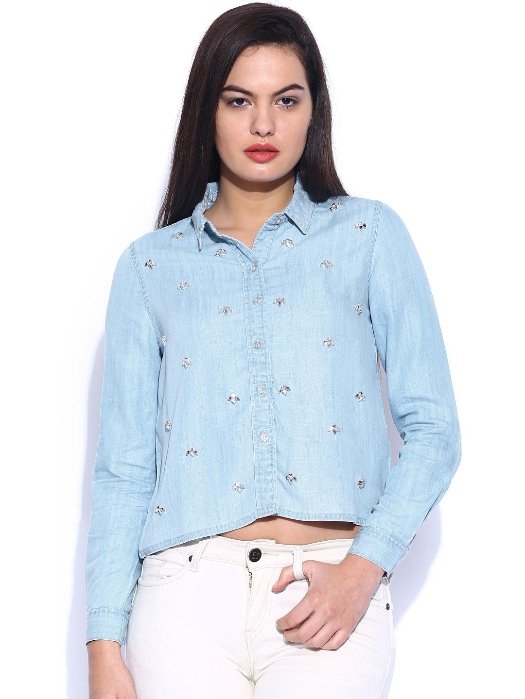 135b8b2c72 Buy Blue Denim Shirt Online