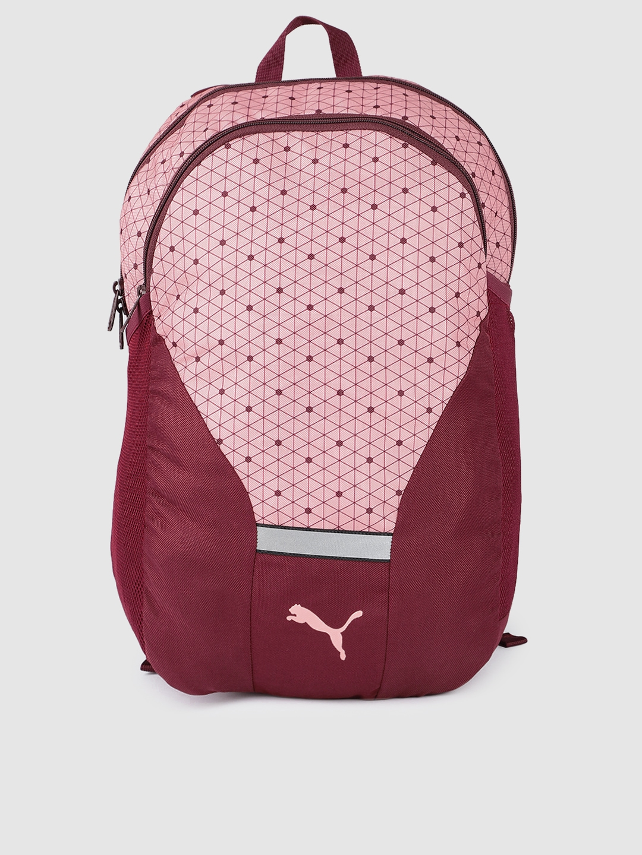Puma Unisex Maroon Graphic Beta Laptop Backpack