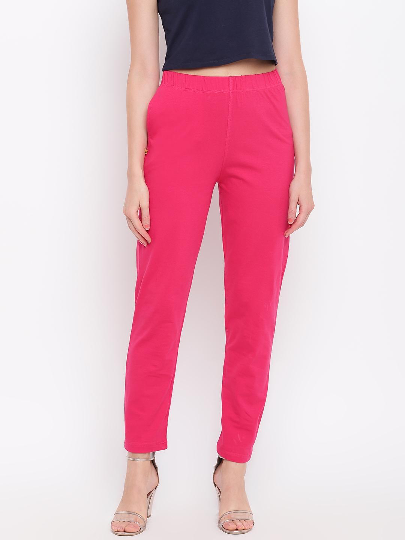 AURELIA Women Pink Solid Regular Trousers