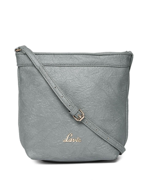 Lavie Grey Solid Sling Bag