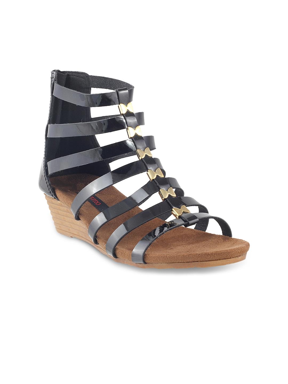 e0ae8b573249 Buy Metro Women Black Gladiators - Heels for Women 1019272