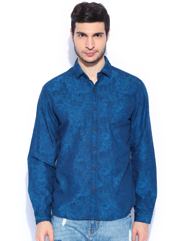 Locomotive Dark Blue Casual Shirt
