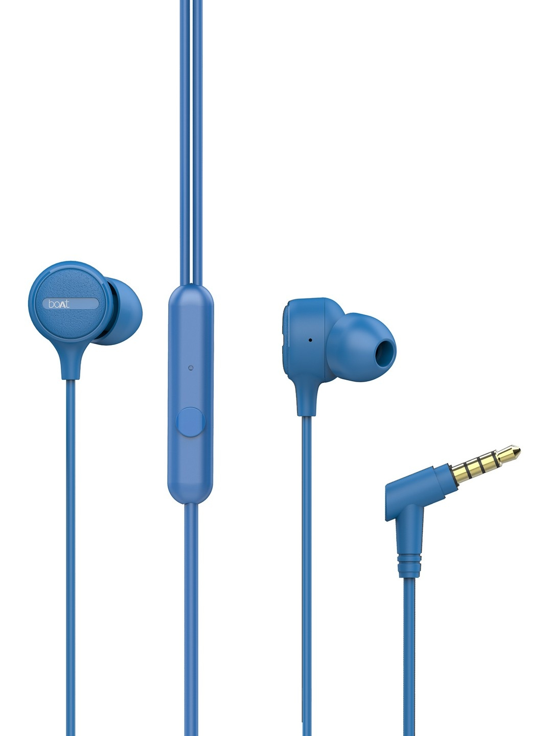 boAt BassHeads 103 Blue Wired Earphones with Enhanced Bass Integrated Controls   Mic