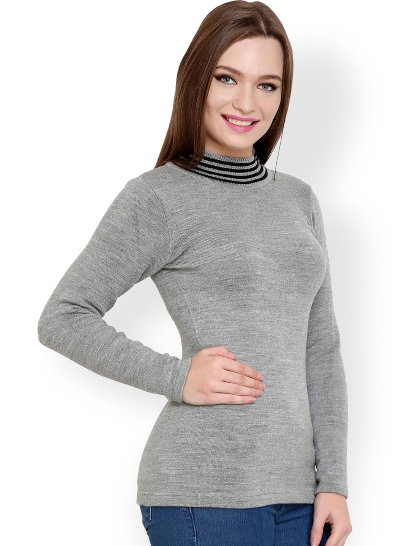 5670686ff3 Buy Renka Grey Sweater - Sweaters for Women 1024466