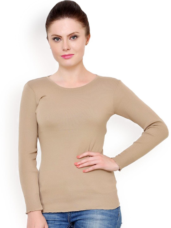 b79f69b03c Buy Renka Beige Sweater - Sweaters for Women 1024494