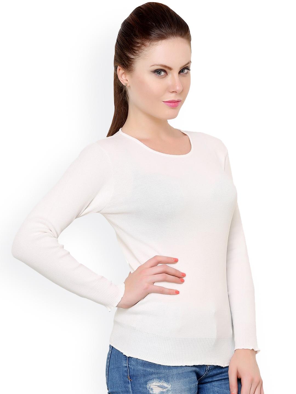 e176dfdffd Buy Renka Off White Sweater - Sweaters for Women 1024511