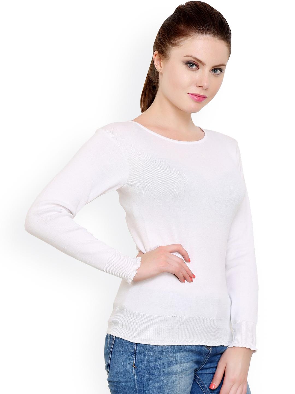 7268048b2b Buy Renka White Sweater - Sweaters for Women 1024521