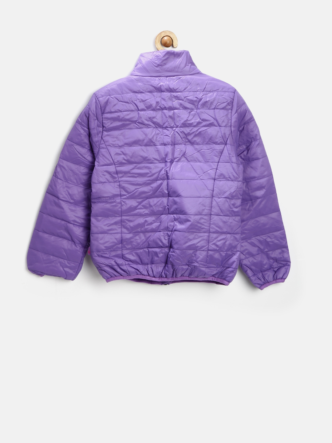 Buy United Colors Of Benetton Girls Purple Jacket - Jackets for ... 640183fadeb8