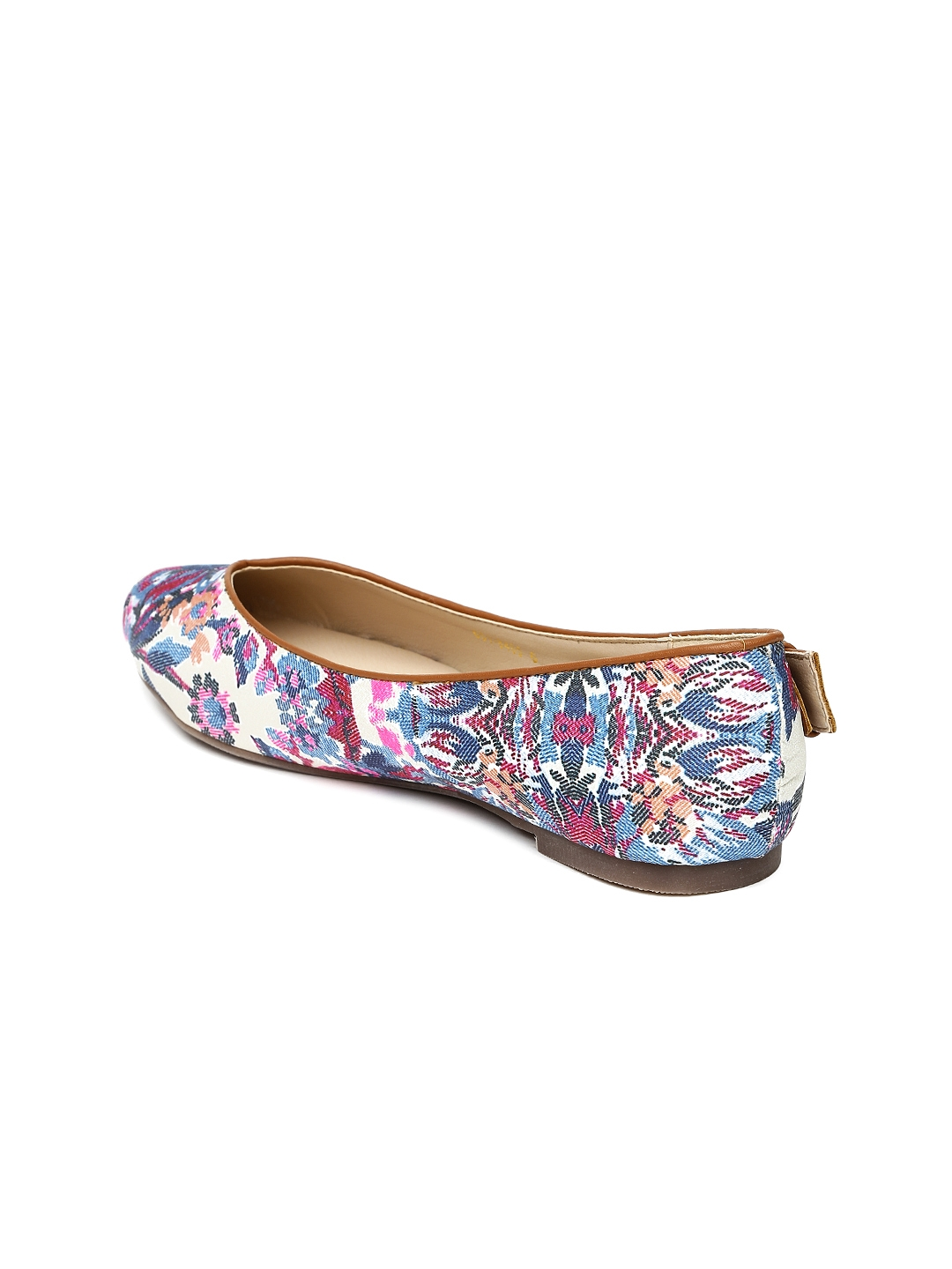179f98f93 Buy Marie Claire Women Beige Floral Print Flat Shoes - Flats for ...