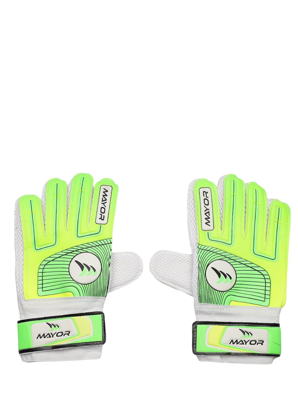 MAYOR Unisex Green Printed Club Goal Keeper Gloves