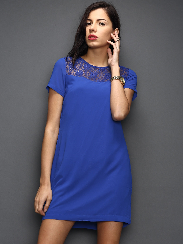 Buy SELA Blue Shift Dress - Dresses for Women 1032413  ae7cc46e0