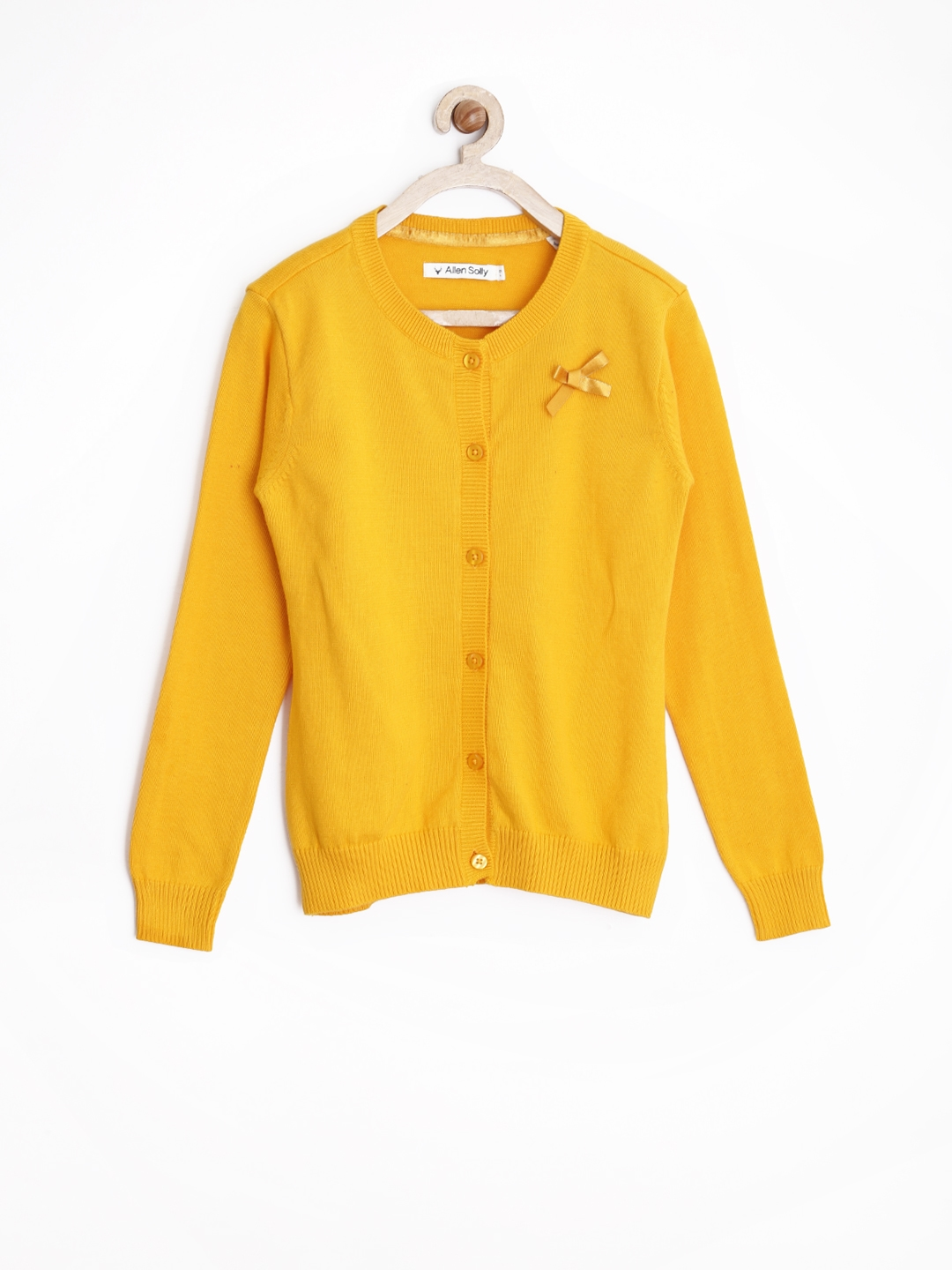 Buy Allen Solly Junior Girls Yellow Cardigan - Sweaters for Girls ...