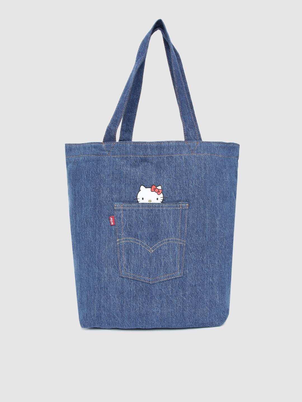 Levis Women Blue HELLO KITTY Tote Bag