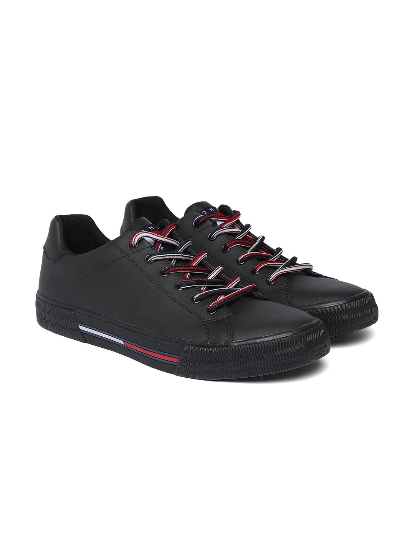 Buy Tommy Hilfiger Men Black Sneakers