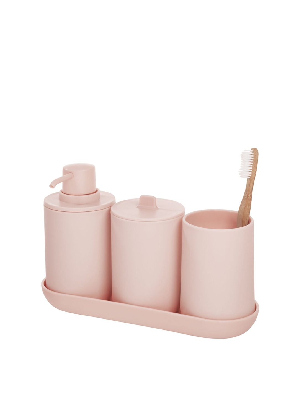 INTERDESIGN Pink Set of 4 Bathroom Accessory