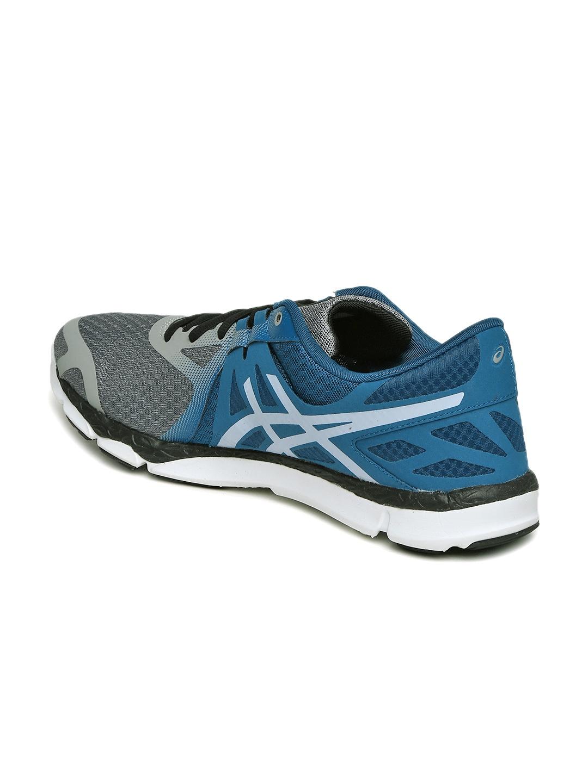 ade180d9f9e4 Buy ASICS Men Grey   Teal Blue 33 DFA Running Shoes - Sports Shoes ...