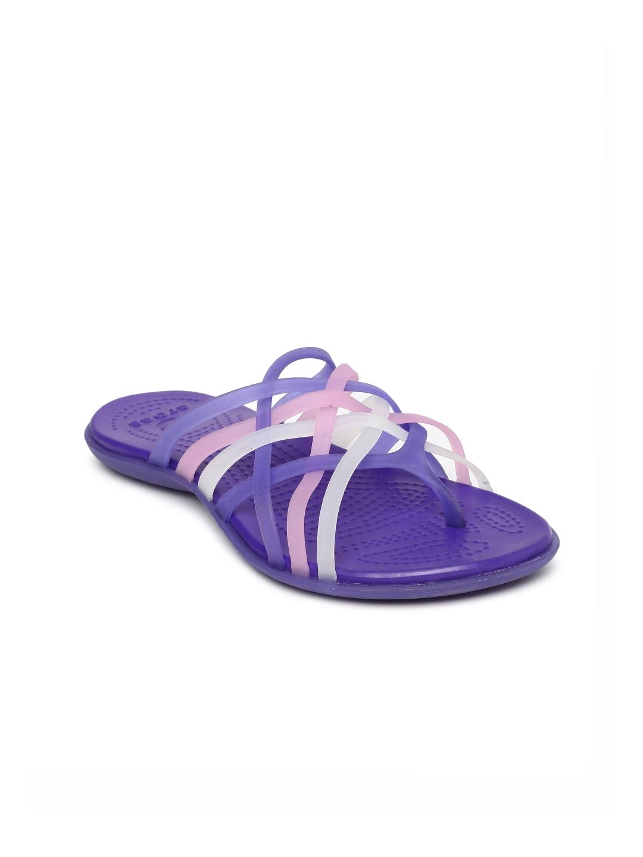 977740ba56a3 Buy Crocs Women Purple   Pink Huarache Flip Flops - Flip Flops for ...