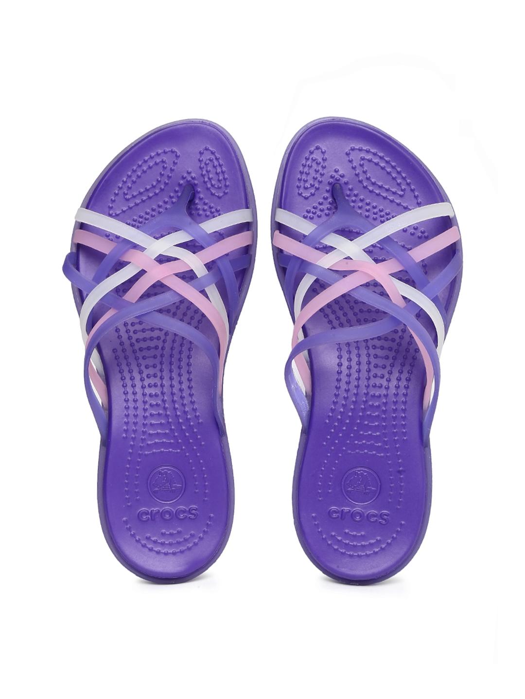53ab1da359de69 Buy Crocs Women Purple   Pink Huarache Flip Flops - Flip Flops for Women  1038870