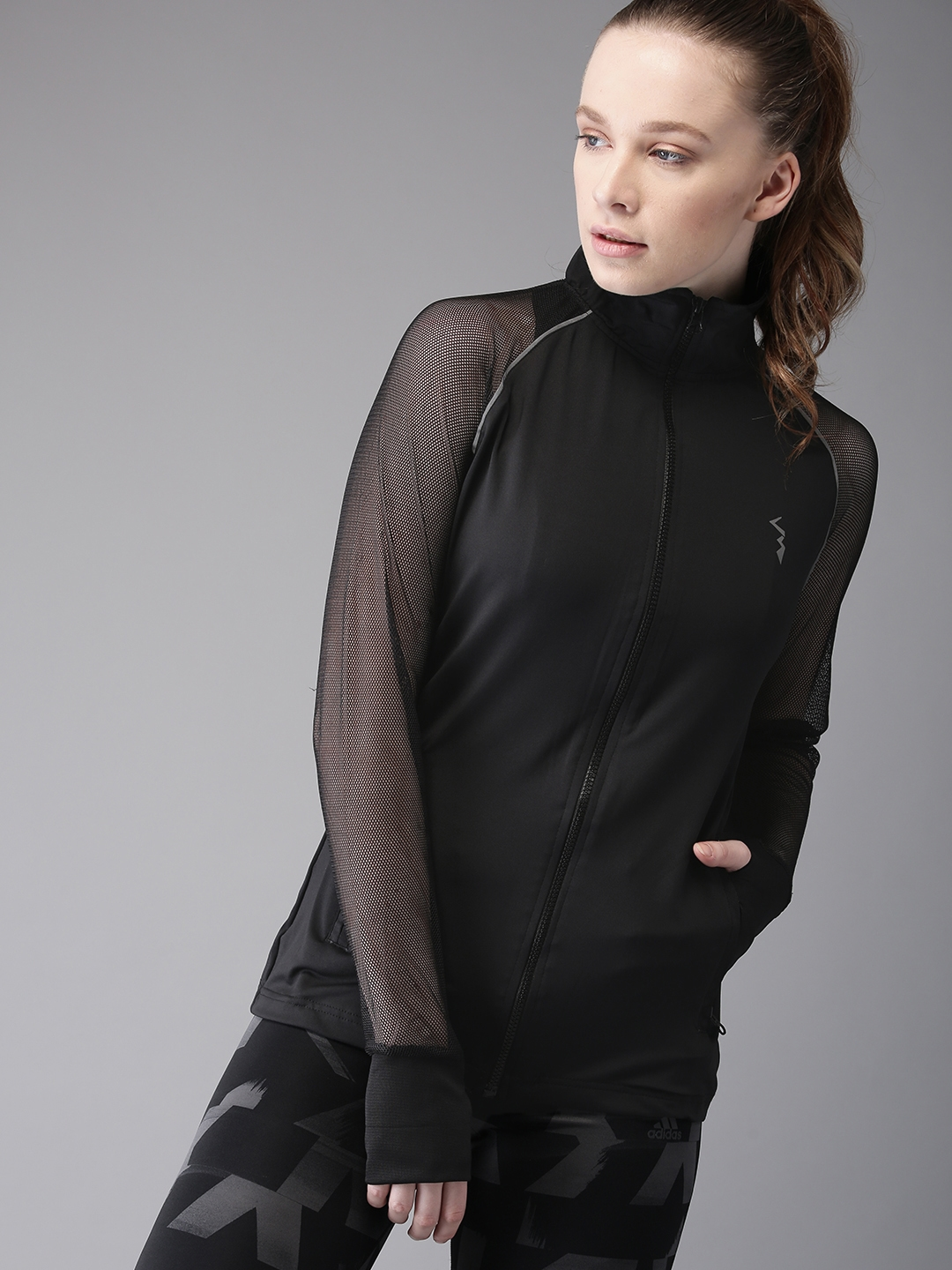 Campus Sutra Women Black Solid Jacket