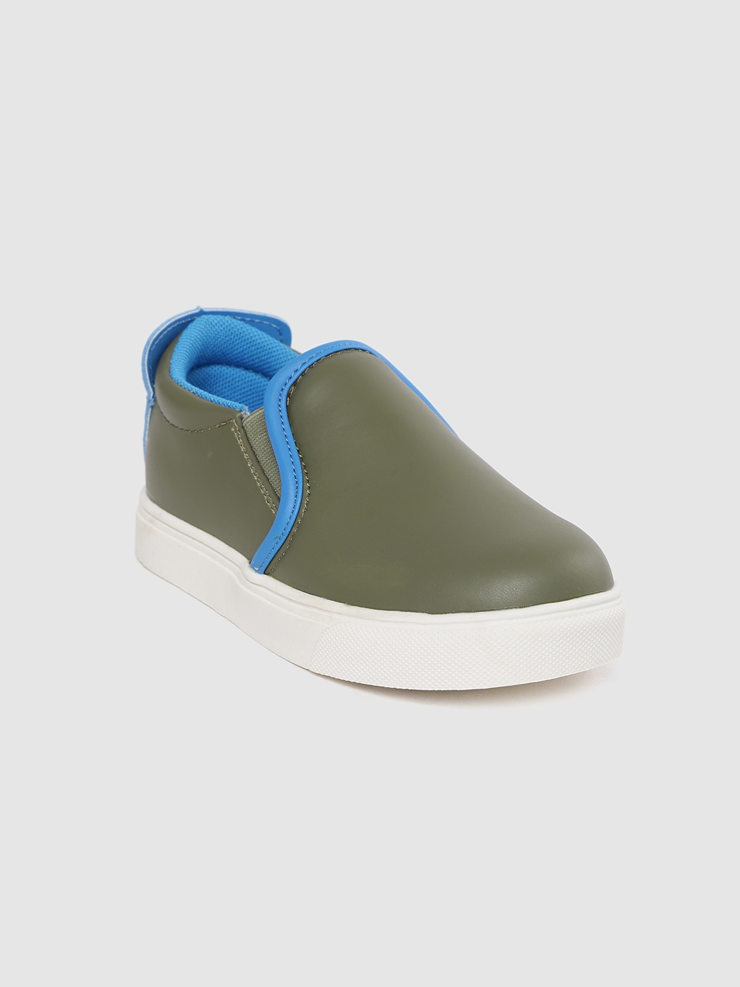 United Colors of Benetton Kids Olive Green Slip On Sneakers