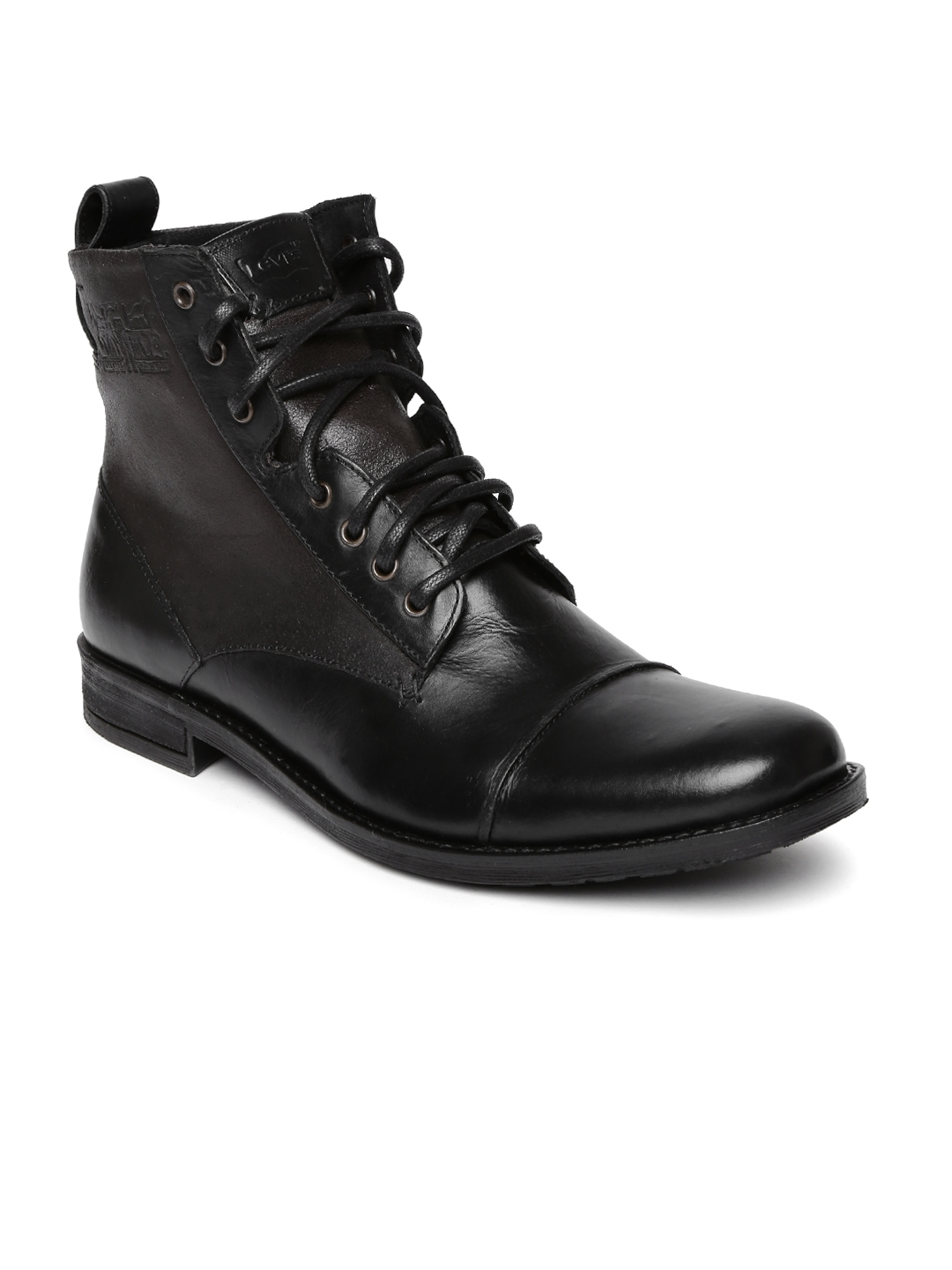 db4bf7b0322 Levi's Men Black Leather Boots