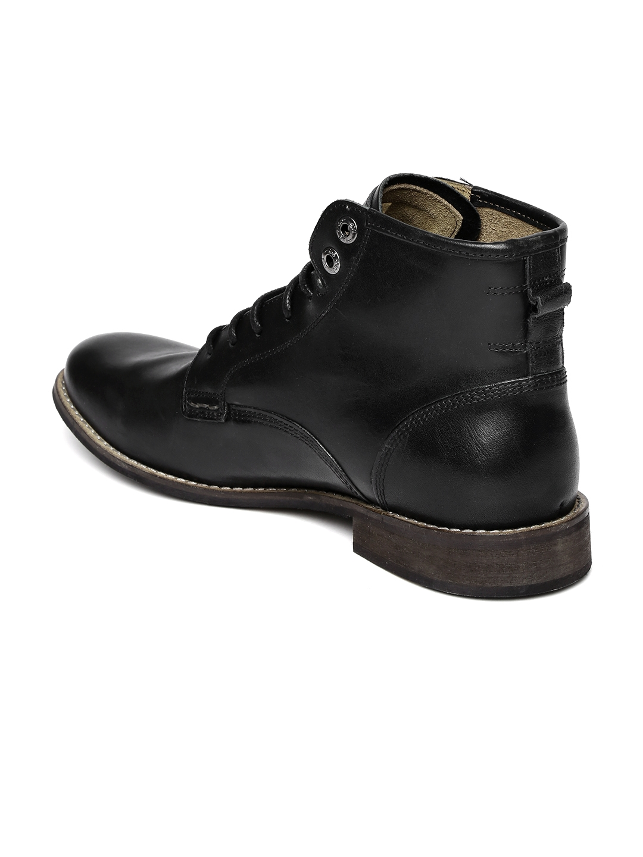 01d4e846e291e Buy Levi's Men Black Leather Boots - Casual Shoes for Men 1043398 ...