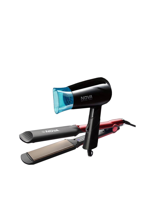 NOVA Set of NHS 870 Hair Straightener   NHP 8100/05 Hair Dryer