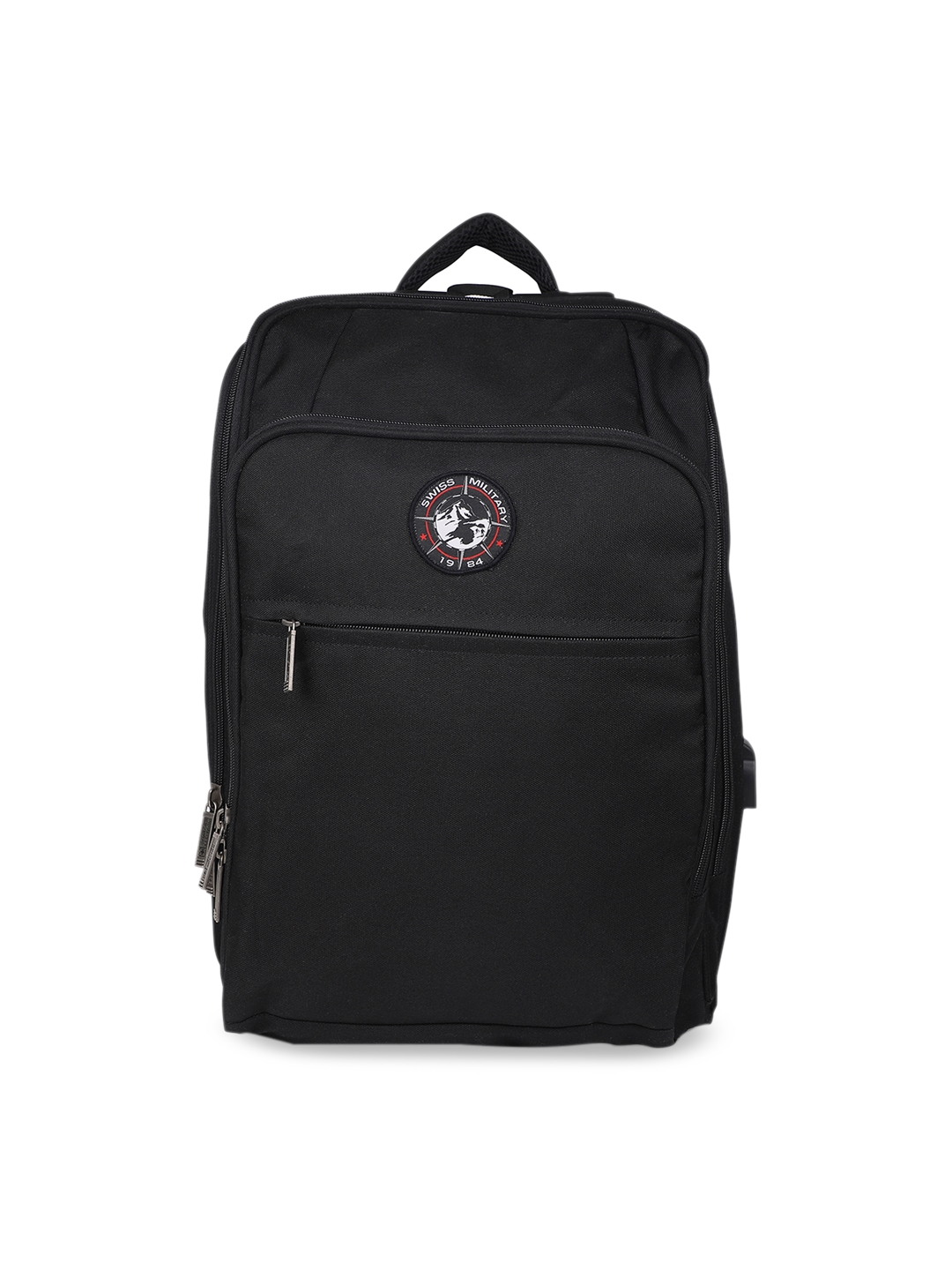 SWISS MILITARY Unisex Black Solid Laptop Backpack