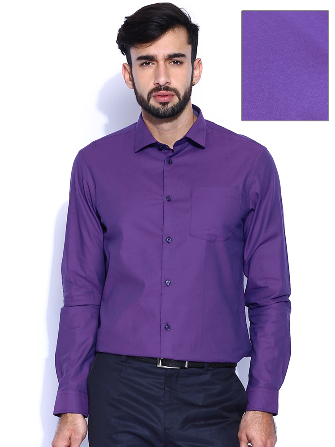 119ebc51f70 Buy Arrow New York Purple Slim Fit Formal Shirt - Shirts for Men ...