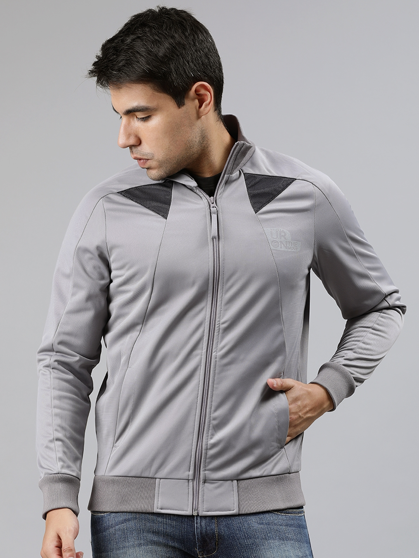 Lee Men Grey Solid Sweatshirt