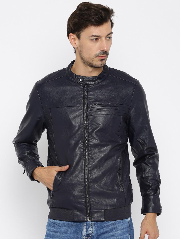 8f8a7acdb00 Buy Van Heusen Sport Navy Biker Jacket - Jackets for Men 1053304 ...