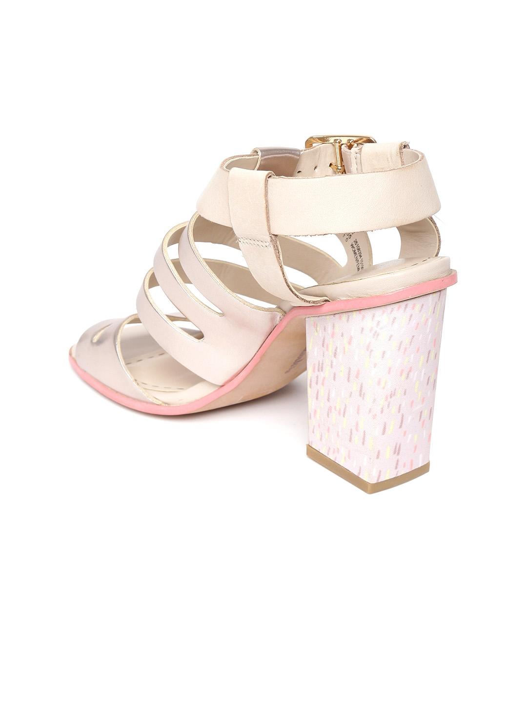 e92af6cc4dfe Buy Clarks Women Rose Gold Toned Glossy Block Heels - Heels for ...