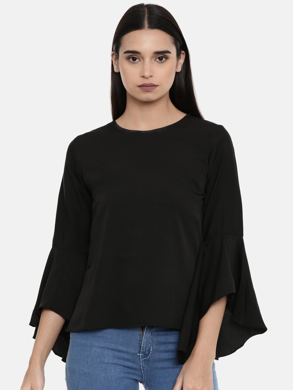 Uptownie Lite Women Black Solid Top