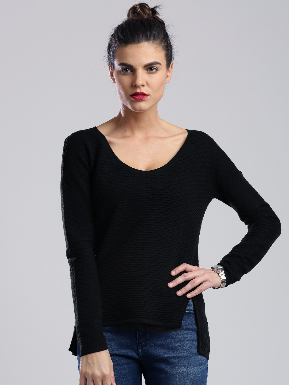 b9d6b32fed7 Buy Calvin Klein Jeans Black Sweater - Sweaters for Women 1063011 ...