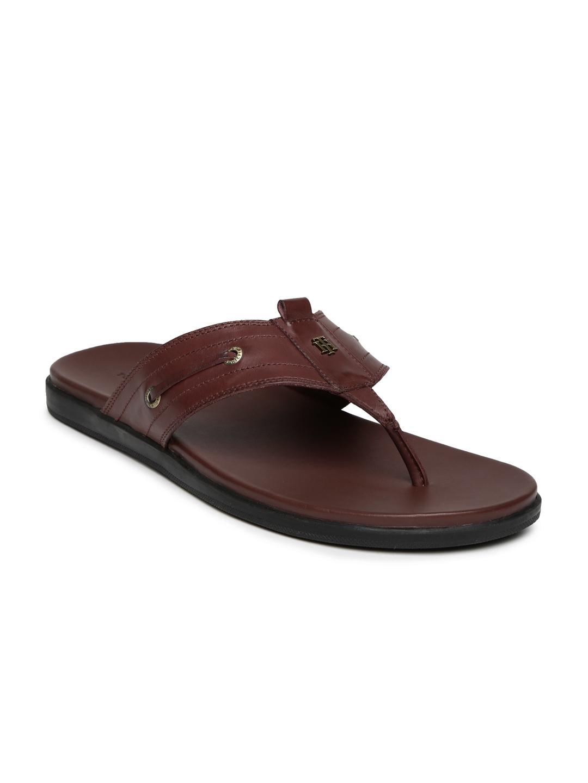 2098ef5ba31 Buy Tommy Hilfiger Men Maroon Leather Sandals - Sandals for Men ...