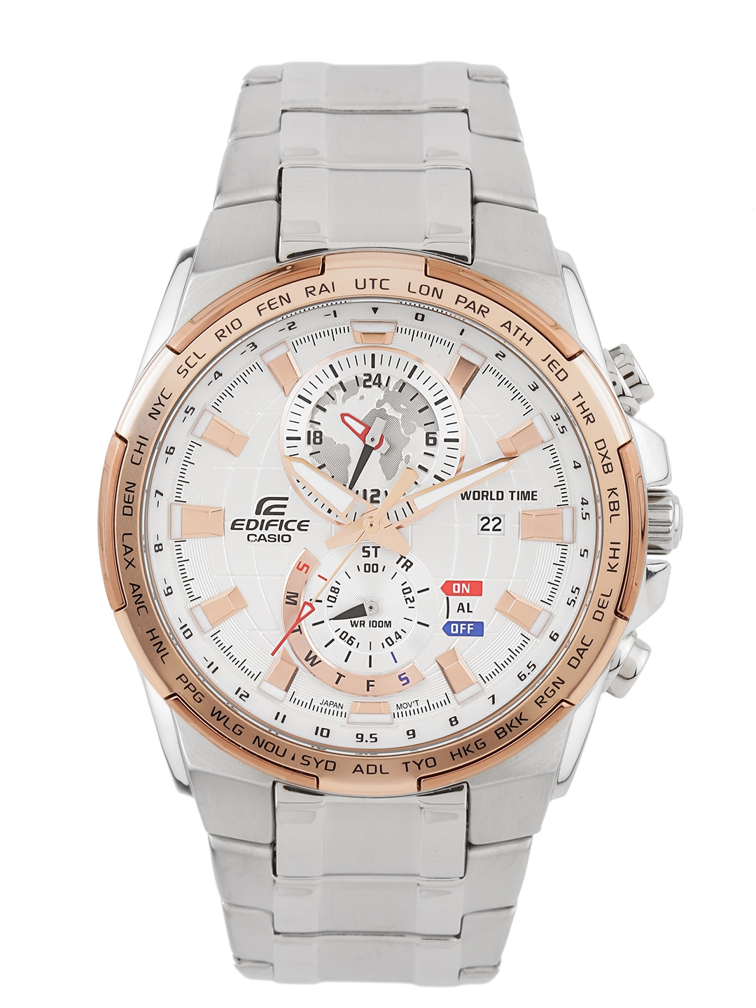 40685b7dc8a Buy Casio Edifice Men Silver Analogue Watches (EX263) EFR 550D ...