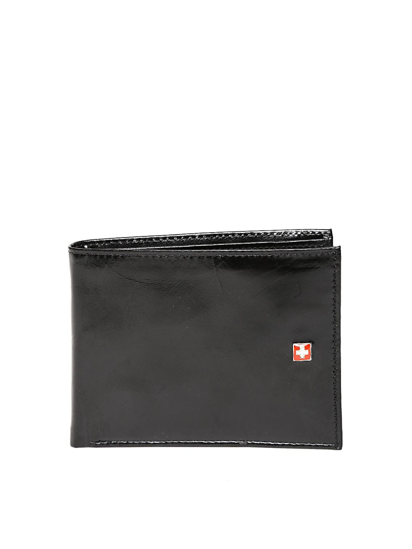 SWISS MILITARY Men Black Genuine Leather Wallet