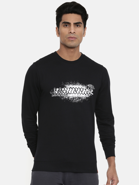 Wildcraft Men Black Printed Sweatshirt