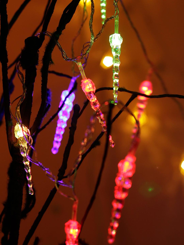 TAYHAA Set of 3 LED Multicoloured String Lights
