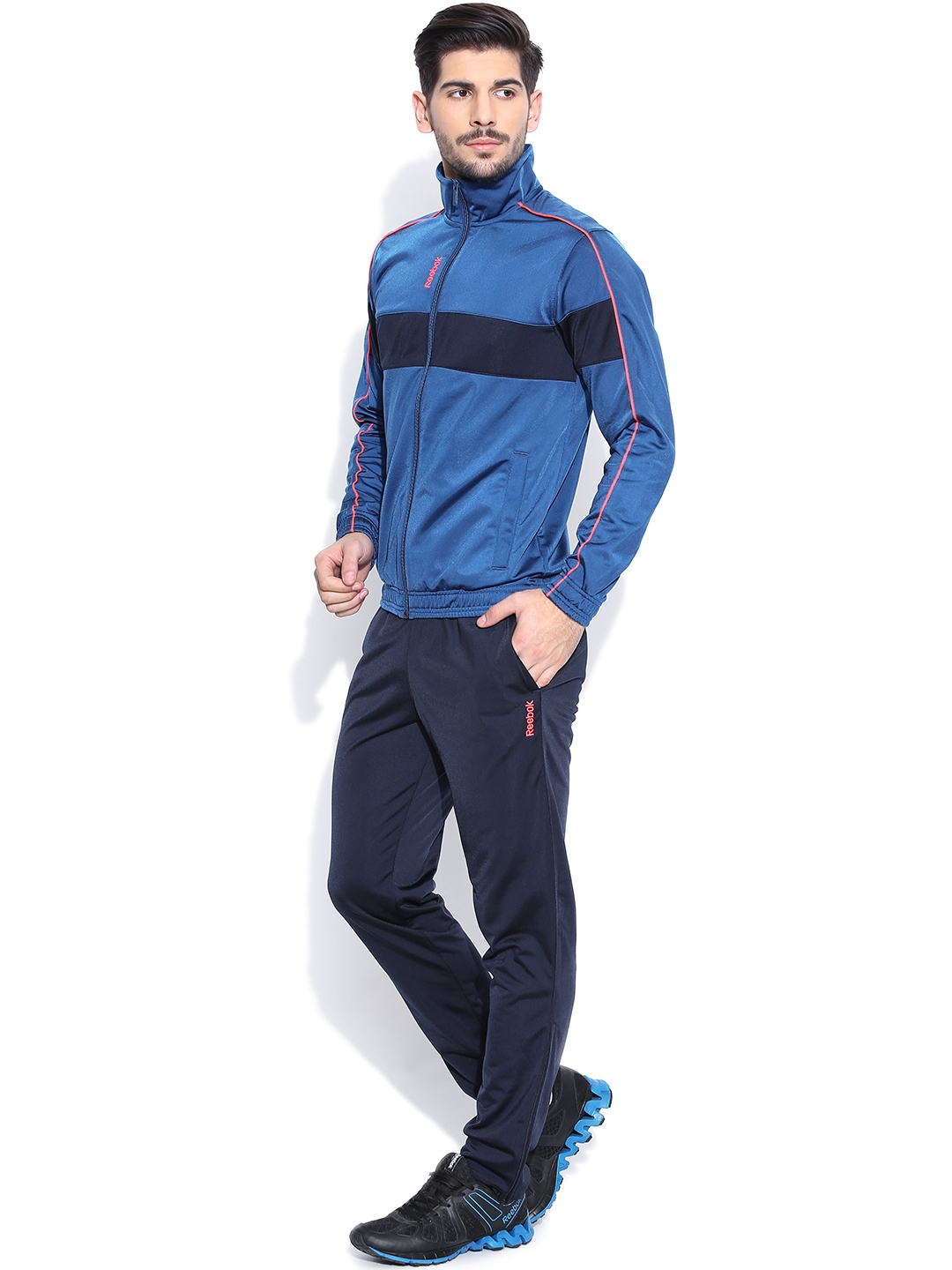 8645accbac67 Buy Reebok Blue TS TRICOT Training Tracksuit - Tracksuits for Men ...