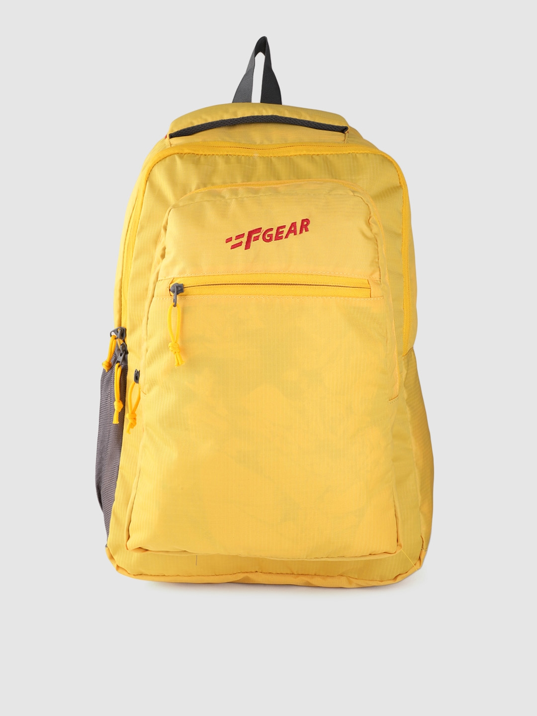 F Gear Unisex Yellow Solid Laptop Backpack
