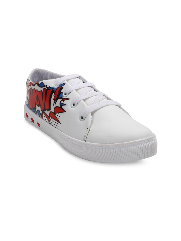 ZAPATOZ Women White Sneakers